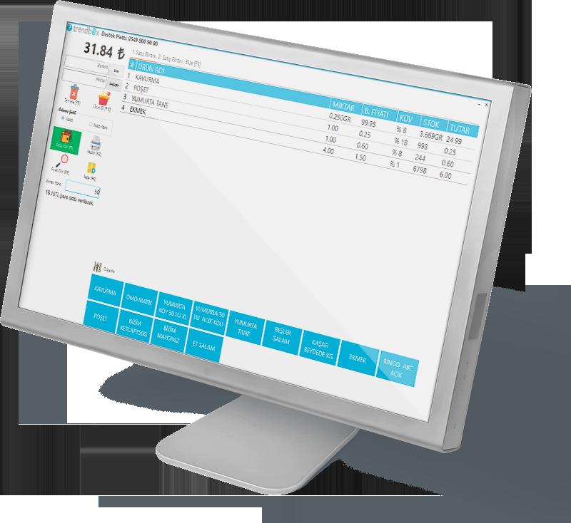Market Barkod Programı Satış Ekranı