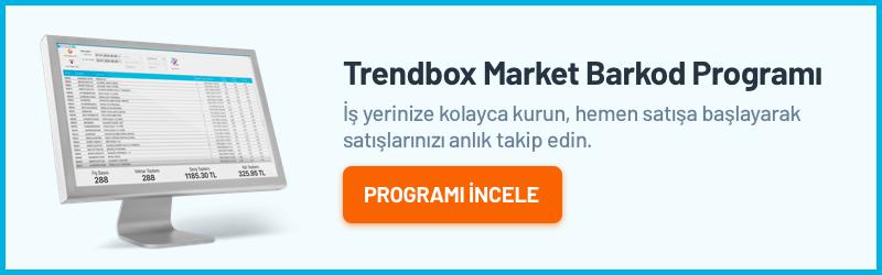 Trendbox Market Barkod Programı
